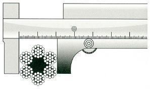 Измерение диаметра каната неправильное
