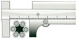 правильное измерение диаметра троса